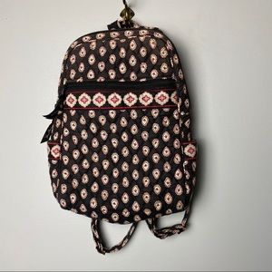 Vera Bradley Mini Backpack in Black Paisley